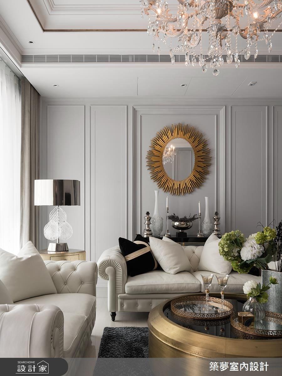 80坪新成屋(5年以下)_新古典客廳案例圖片_築夢室內設計_築夢_10之3