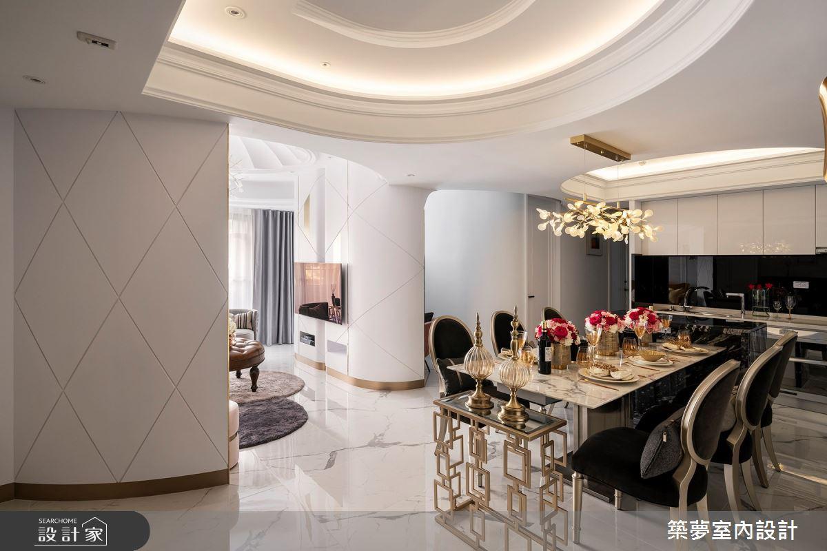 70坪新成屋(5年以下)_新古典餐廳案例圖片_築夢室內設計_築夢_15之3