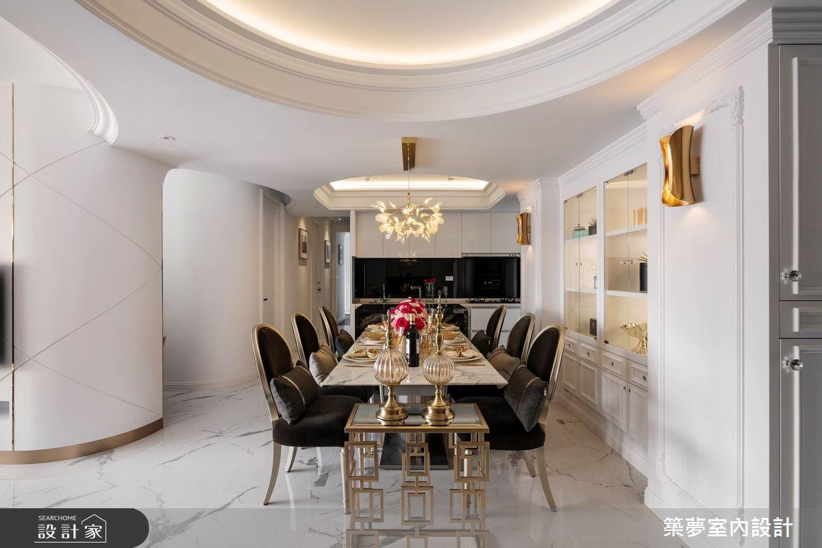 70坪新成屋(5年以下)_新古典餐廳案例圖片_築夢室內設計_築夢_15之4