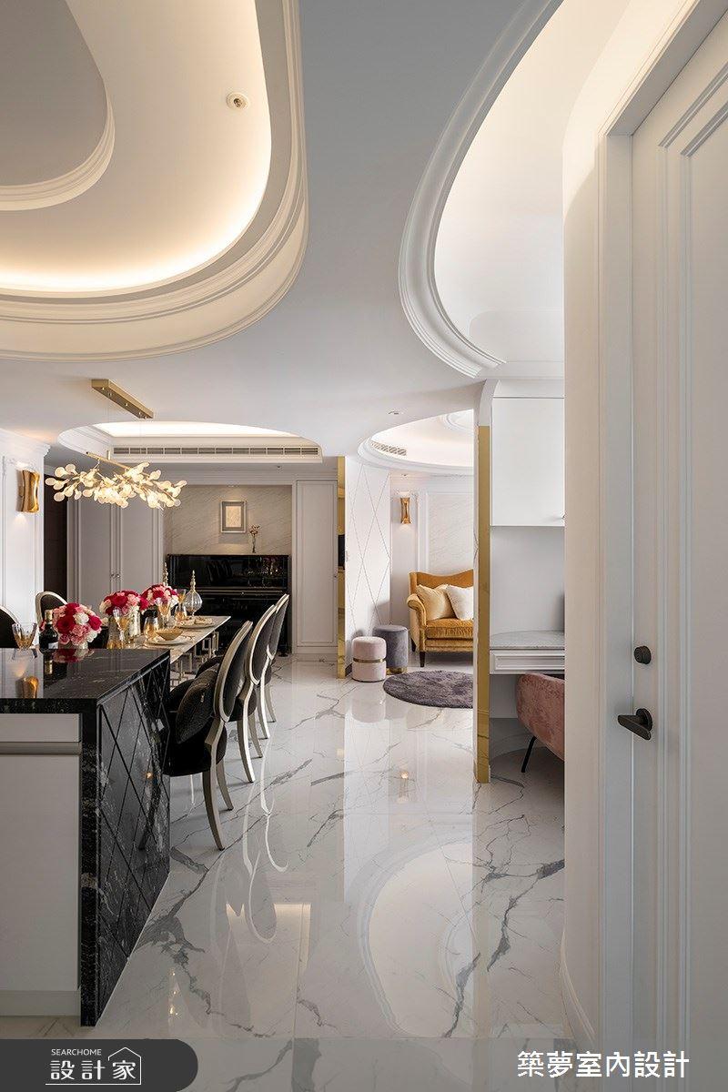 70坪新成屋(5年以下)_新古典餐廳案例圖片_築夢室內設計_築夢_15之7