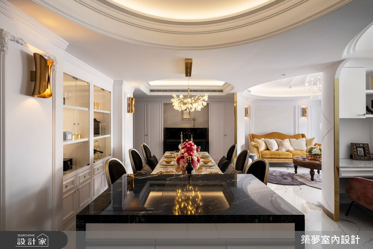 70坪新成屋(5年以下)_新古典餐廳吧檯案例圖片_築夢室內設計_築夢_15之6
