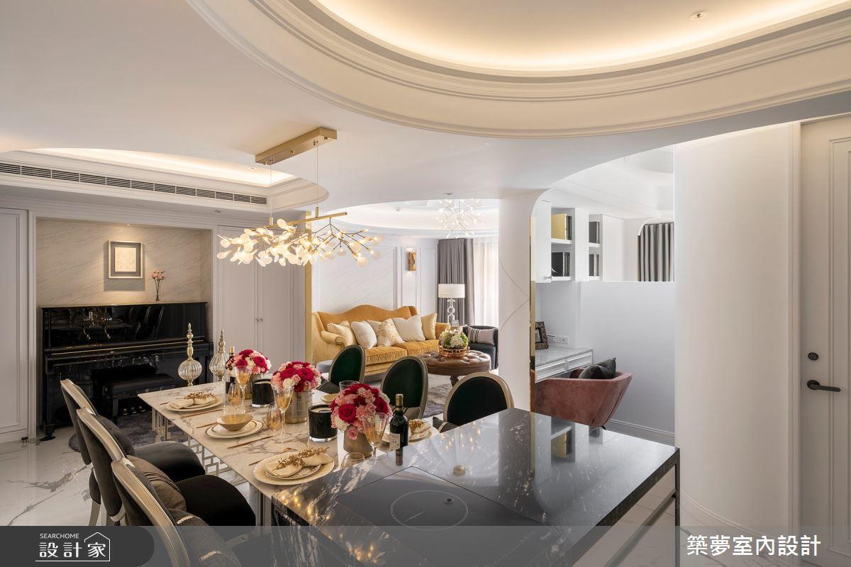 70坪新成屋(5年以下)_新古典餐廳吧檯案例圖片_築夢室內設計_築夢_15之8