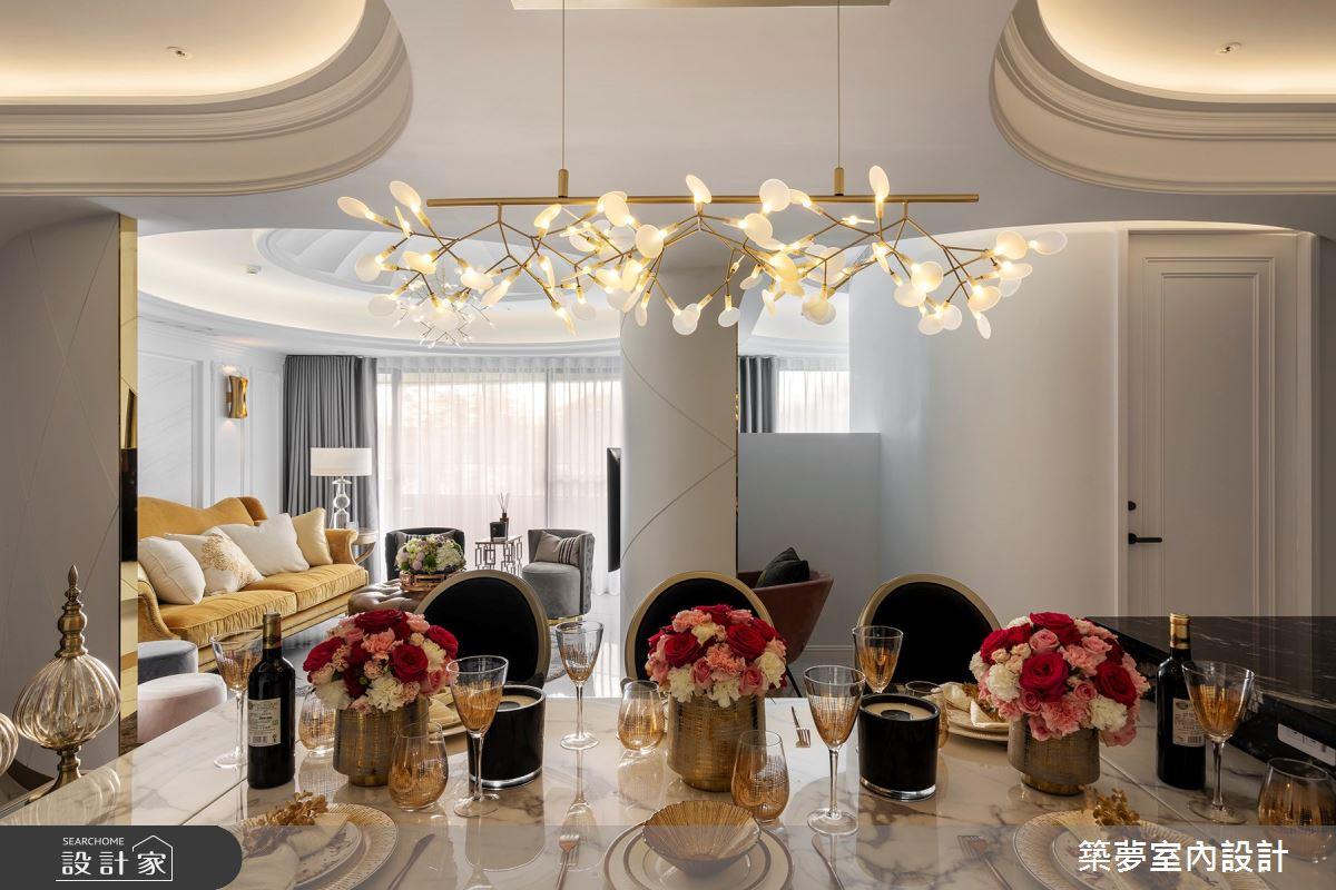 70坪新成屋(5年以下)_新古典餐廳案例圖片_築夢室內設計_築夢_15之9
