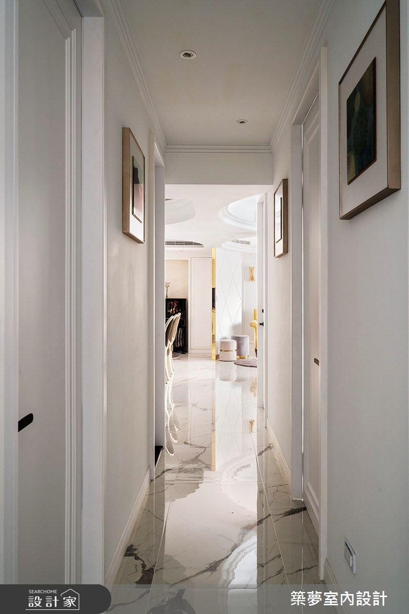 70坪新成屋(5年以下)_新古典走廊案例圖片_築夢室內設計_築夢_15之11