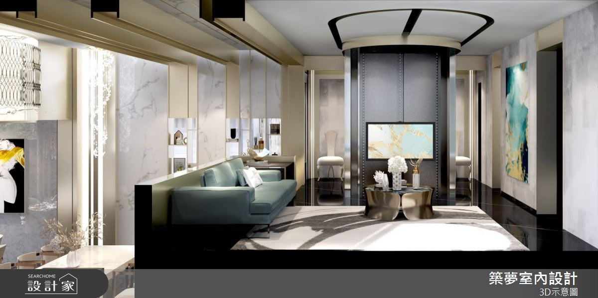 200坪中古屋(5~15年)_奢華風客廳案例圖片_築夢室內設計_築夢_17之2