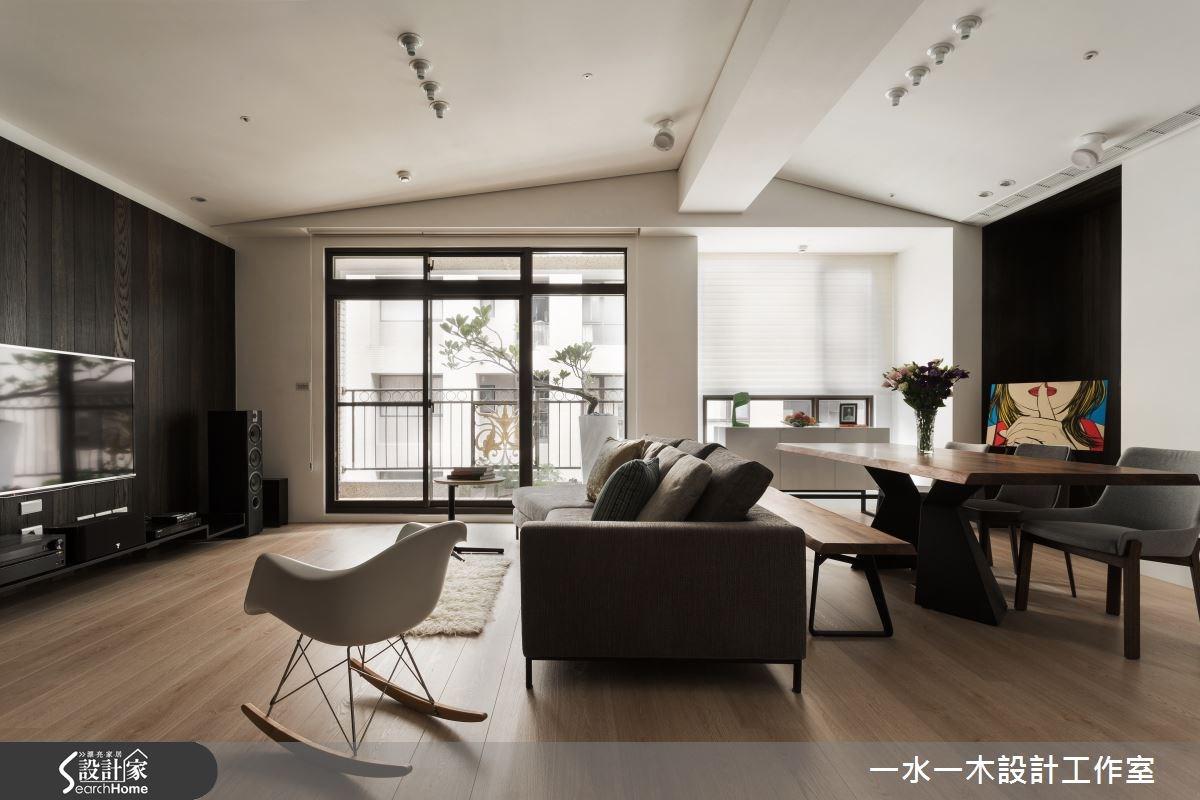 30坪新成屋(5年以下)_療癒風客廳餐廳案例圖片_一水一木設計工作室_一水一木_01之2