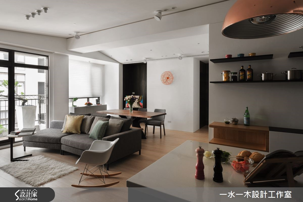 30坪新成屋(5年以下)_療癒風客廳案例圖片_一水一木設計工作室_一水一木_01之3