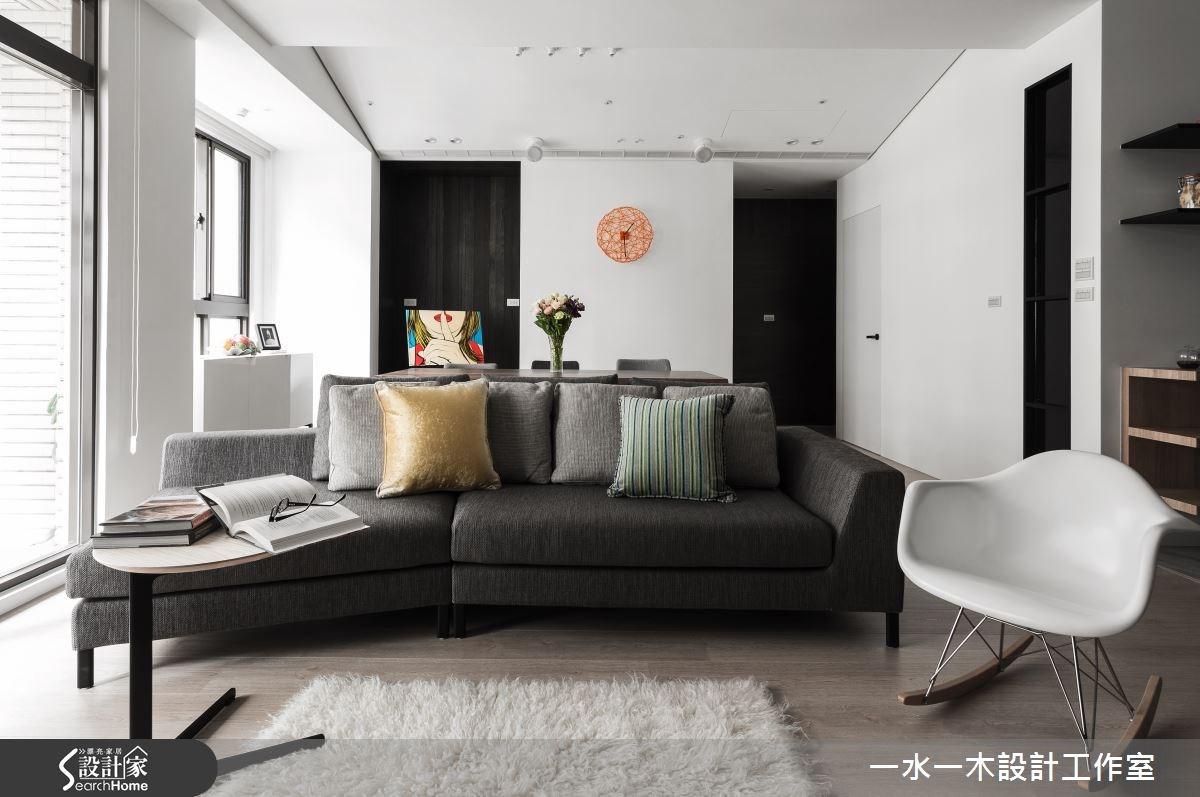 30坪新成屋(5年以下)_療癒風客廳案例圖片_一水一木設計工作室_一水一木_01之4