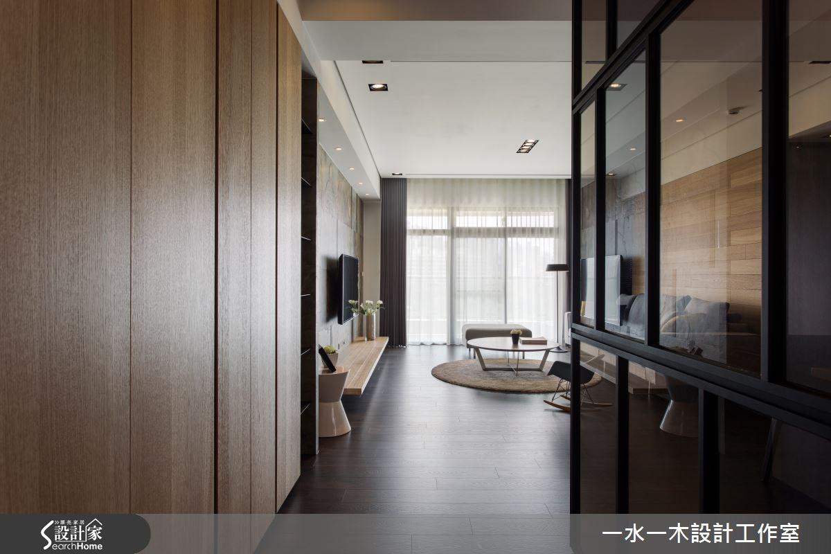 44坪新成屋(5年以下)_簡約風客廳走廊案例圖片_一水一木設計工作室_一水一木_04之1