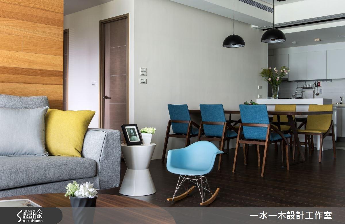 44坪新成屋(5年以下)_簡約風餐廳廚房案例圖片_一水一木設計工作室_一水一木_04之4