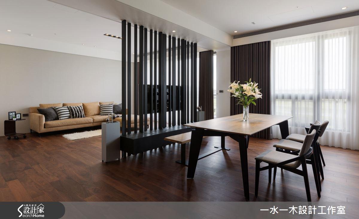 50坪新成屋(5年以下)_簡約風客廳餐廳案例圖片_一水一木設計工作室_一水一木_05之3