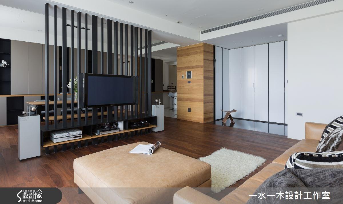 50坪新成屋(5年以下)_簡約風玄關客廳案例圖片_一水一木設計工作室_一水一木_05之6