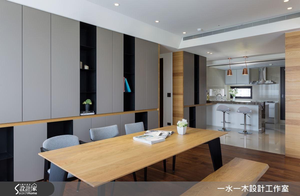 50坪新成屋(5年以下)_簡約風餐廳廚房吧檯案例圖片_一水一木設計工作室_一水一木_05之7