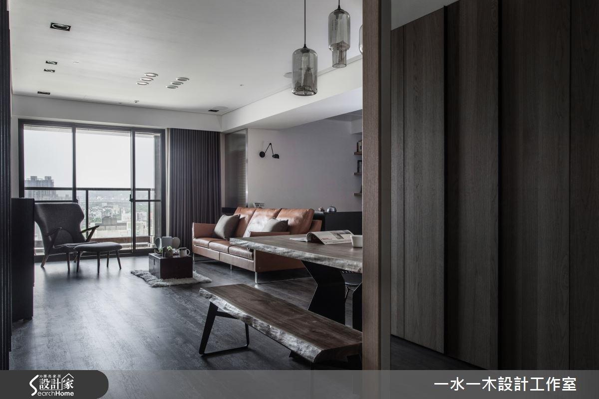 28坪新成屋(5年以下)_工業風客廳案例圖片_一水一木設計工作室_一水一木_11之3