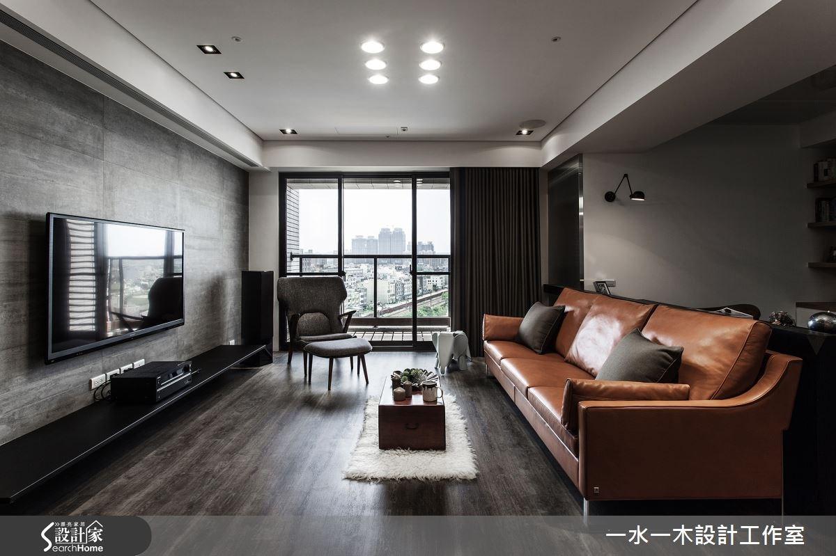 28坪新成屋(5年以下)_工業風客廳案例圖片_一水一木設計工作室_一水一木_11之4