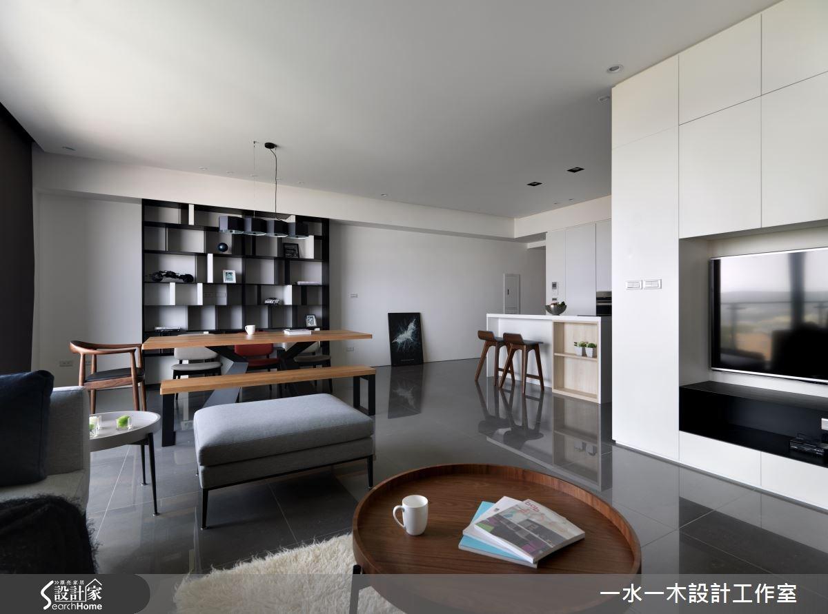 33坪新成屋(5年以下)_北歐風客廳餐廳吧檯案例圖片_一水一木設計工作室_一水一木_14之3
