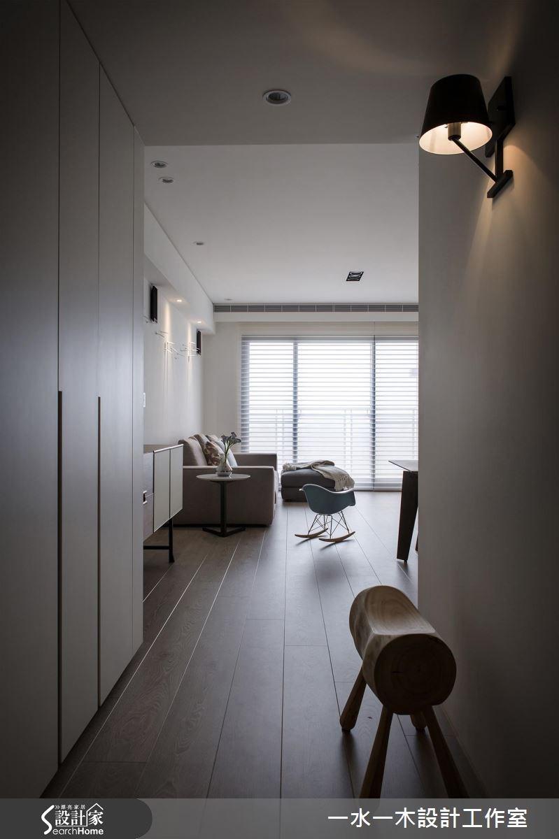 27坪新成屋(5年以下)_簡約風玄關走廊案例圖片_一水一木設計工作室_一水一木_22之2
