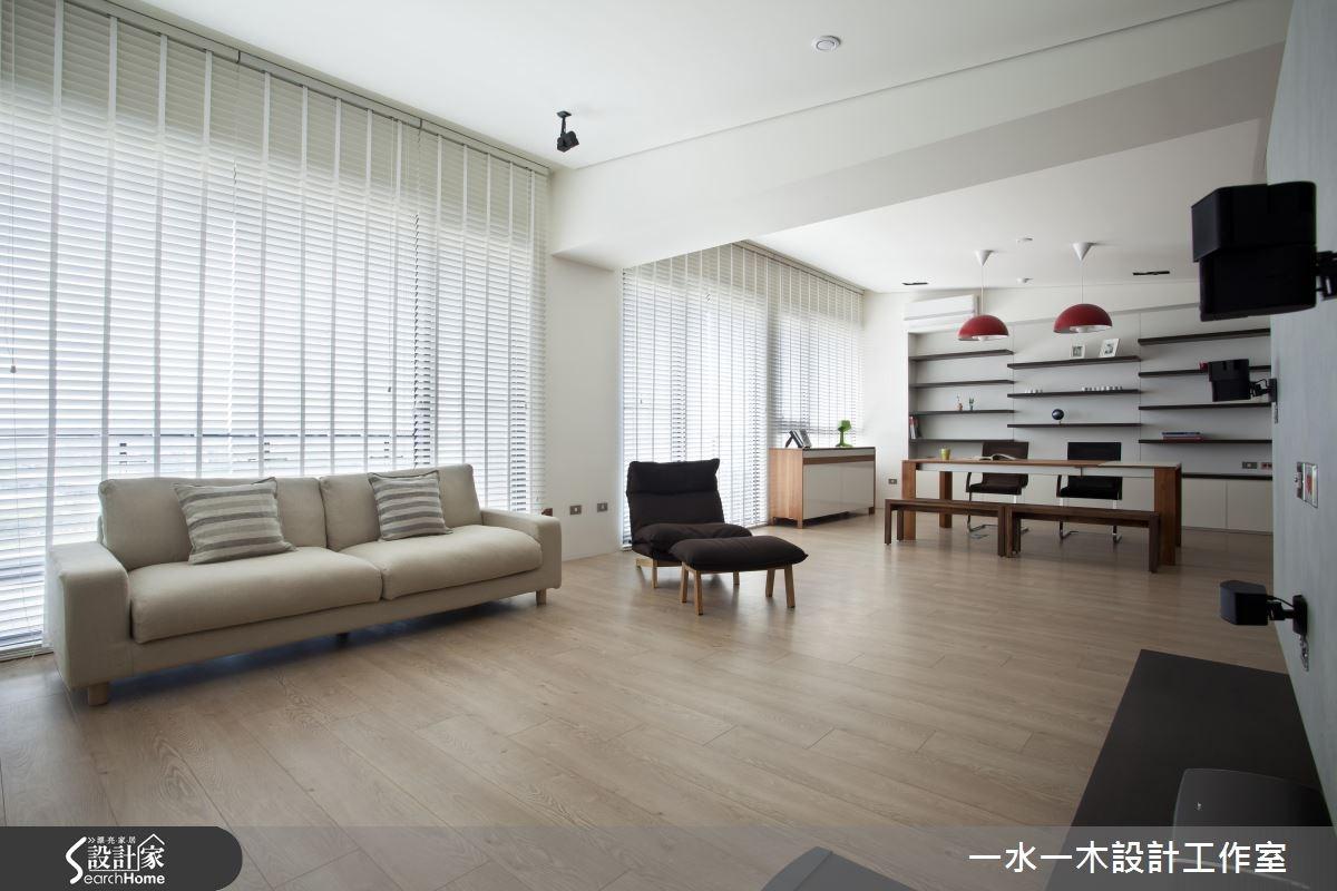 38坪新成屋(5年以下)_北歐風客廳餐廳書房案例圖片_一水一木設計工作室_一水一木_23之3