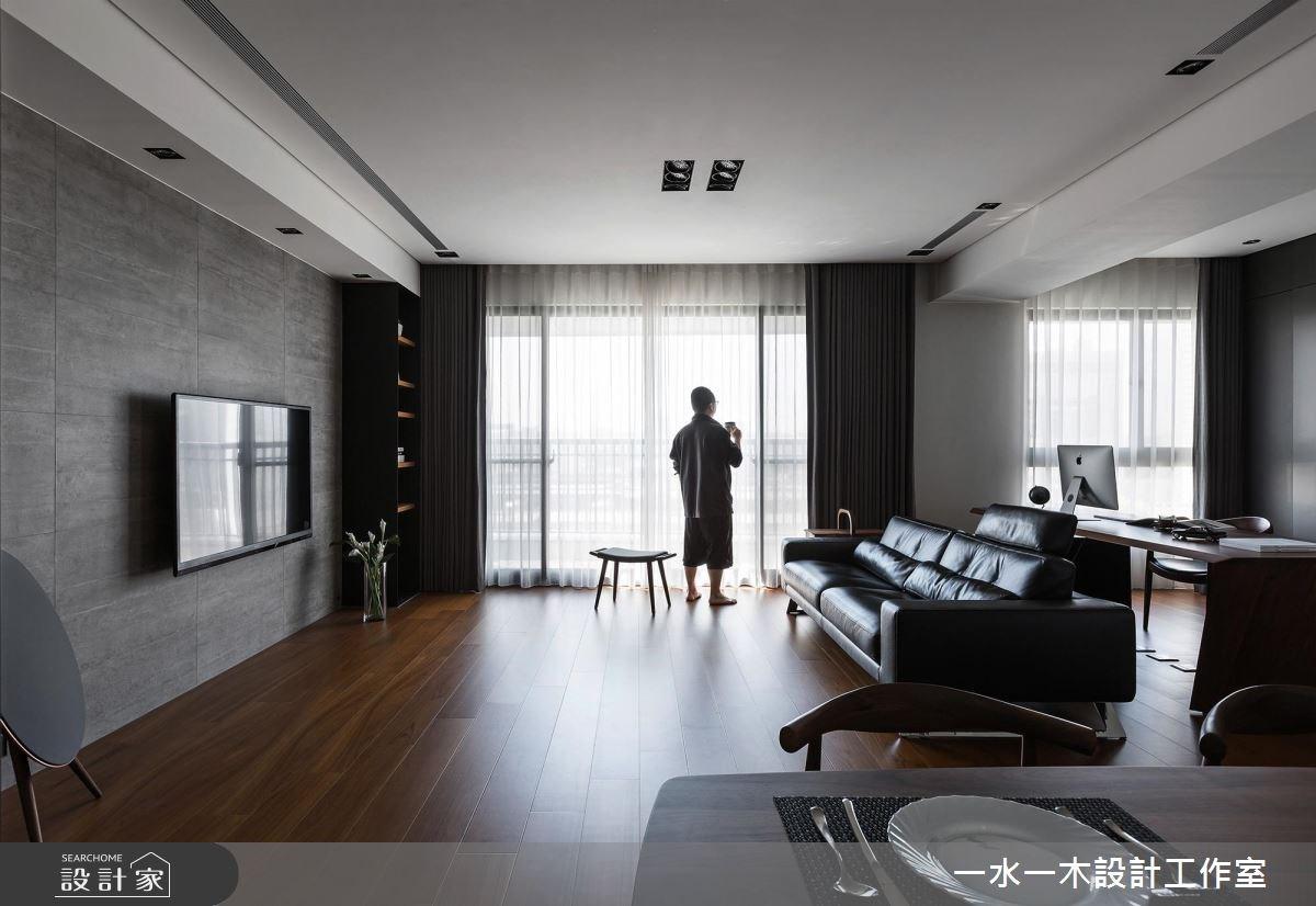 38坪新成屋(5年以下)_奢華風客廳案例圖片_一水一木設計工作室_一水一木_28之2