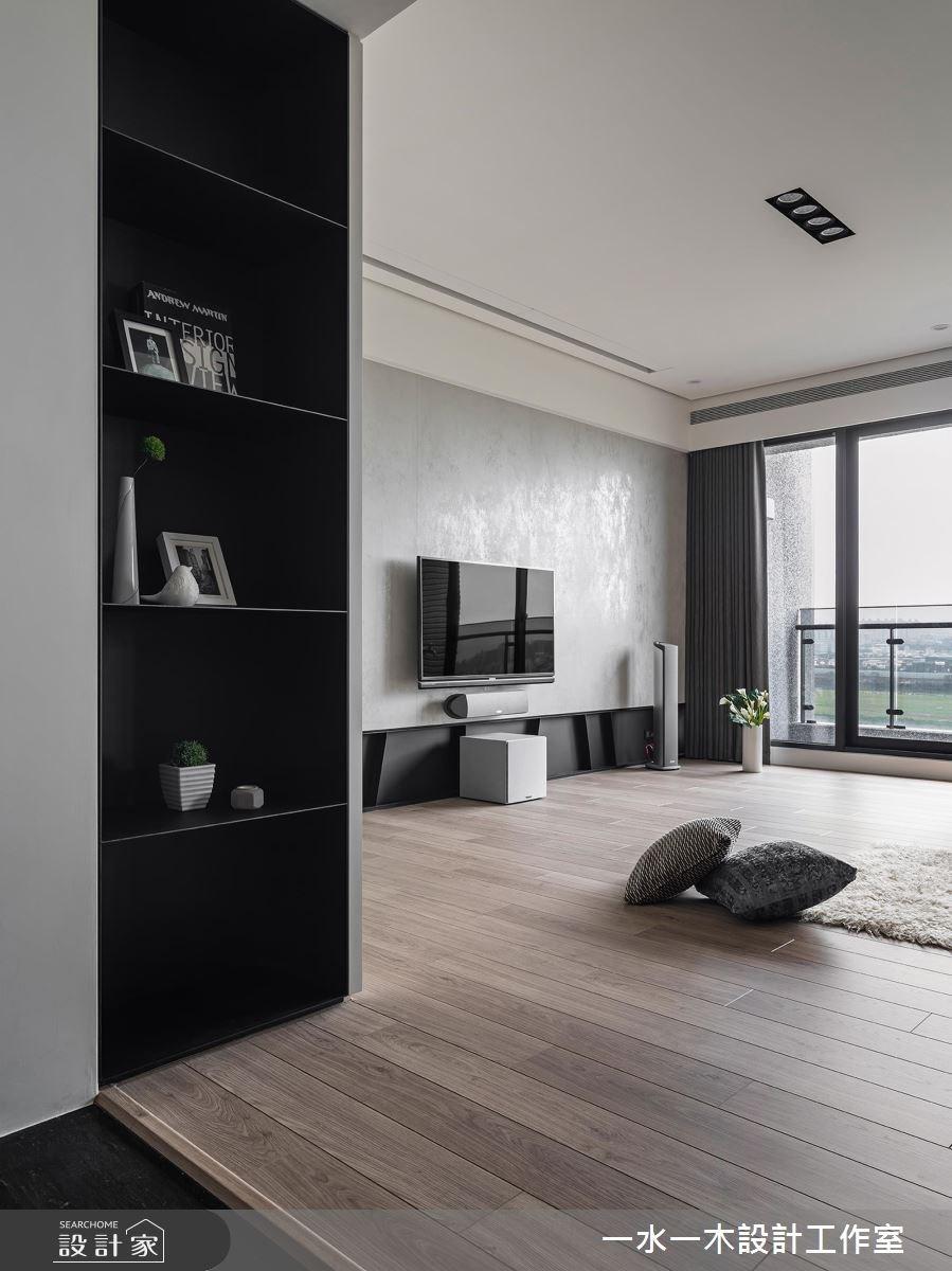 48坪新成屋(5年以下)_混搭風客廳案例圖片_一水一木設計工作室_一水一木_32之2