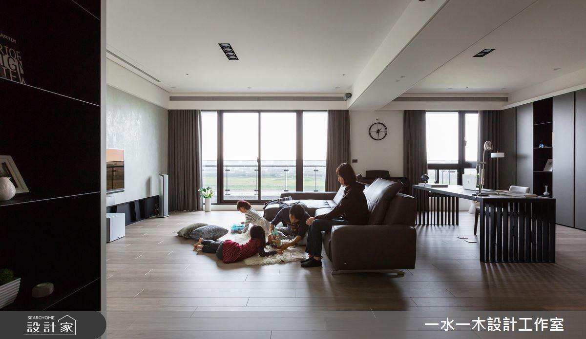 48坪新成屋(5年以下)_混搭風客廳案例圖片_一水一木設計工作室_一水一木_32之4