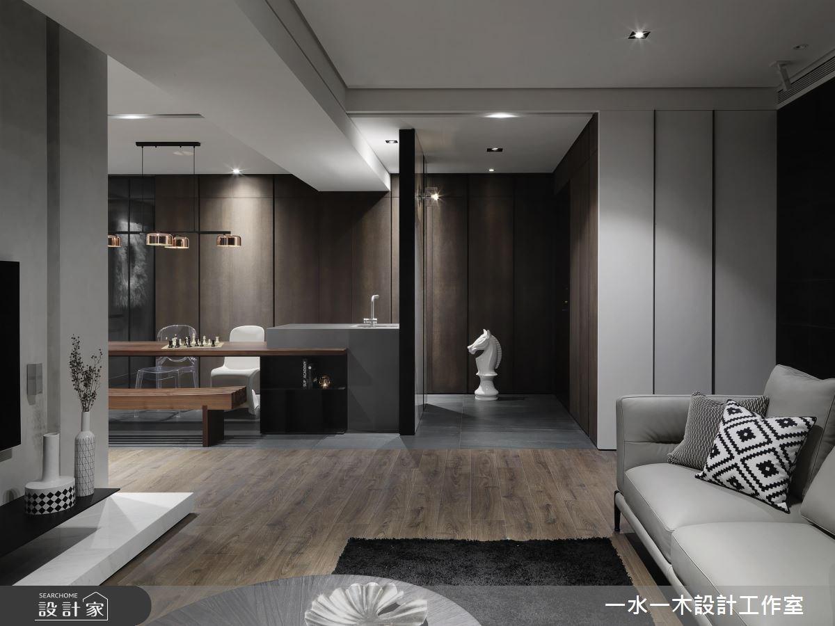 39坪新成屋(5年以下)_現代風客廳案例圖片_一水一木設計工作室_一水一木_37之2