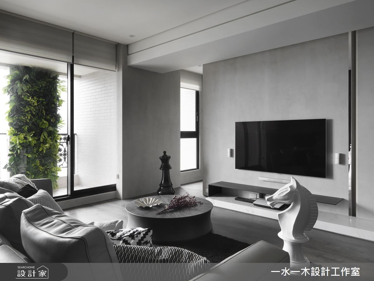 39坪新成屋(5年以下)_現代風客廳案例圖片_一水一木設計工作室_一水一木_37之4