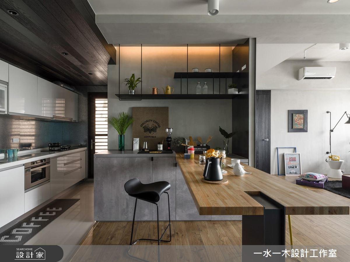 19坪新成屋(5年以下)_混搭風餐廳廚房案例圖片_一水一木設計工作室_一水一木_40之6