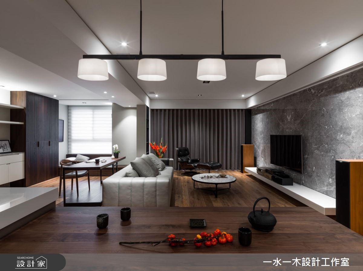 45坪新成屋(5年以下)_人文禪風客廳案例圖片_一水一木設計工作室_一水一木_41之4