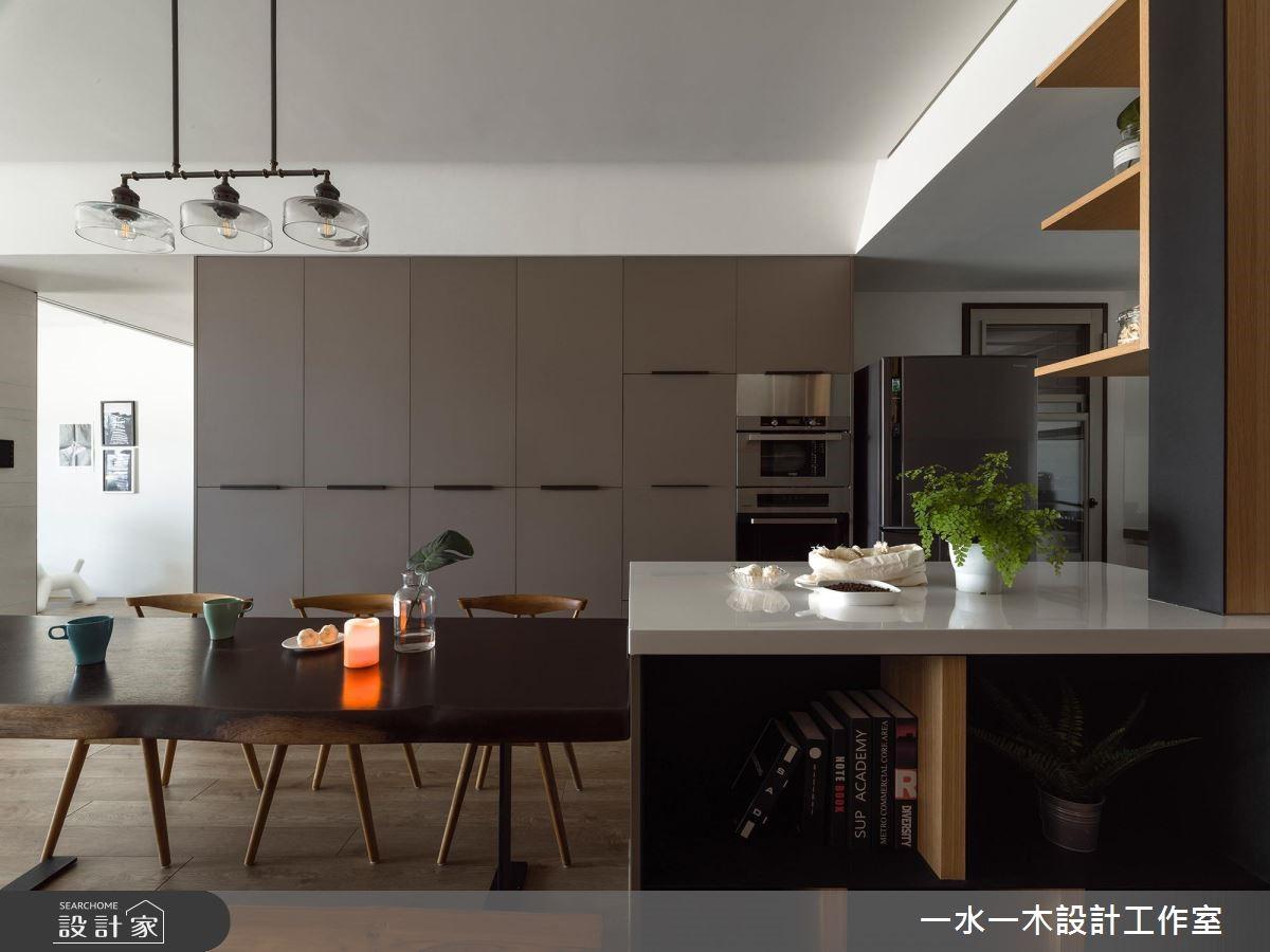 38坪新成屋(5年以下)_現代風餐廳中島案例圖片_一水一木設計工作室_一水一木_43之1