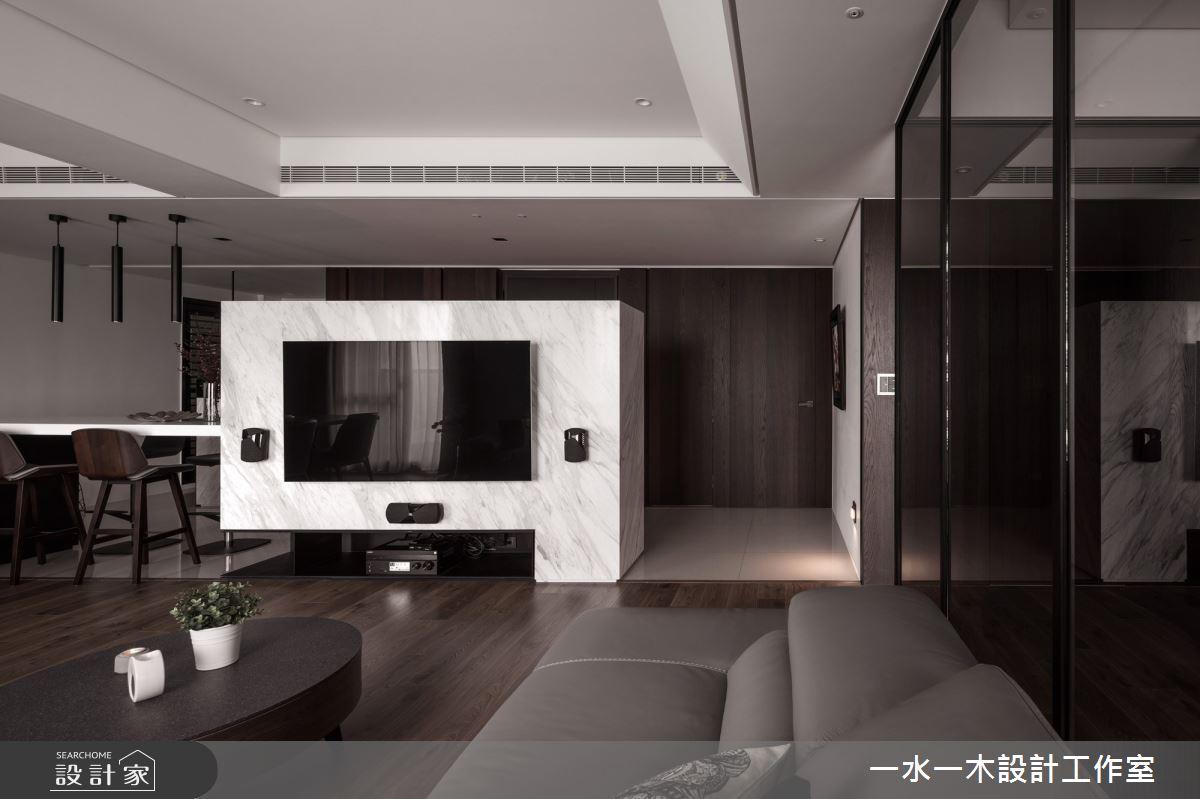 40坪新成屋(5年以下)_現代風客廳案例圖片_一水一木設計工作室_一水一木_48之3