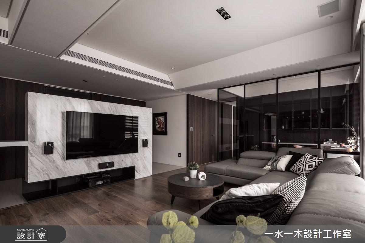 40坪新成屋(5年以下)_現代風客廳案例圖片_一水一木設計工作室_一水一木_48之4