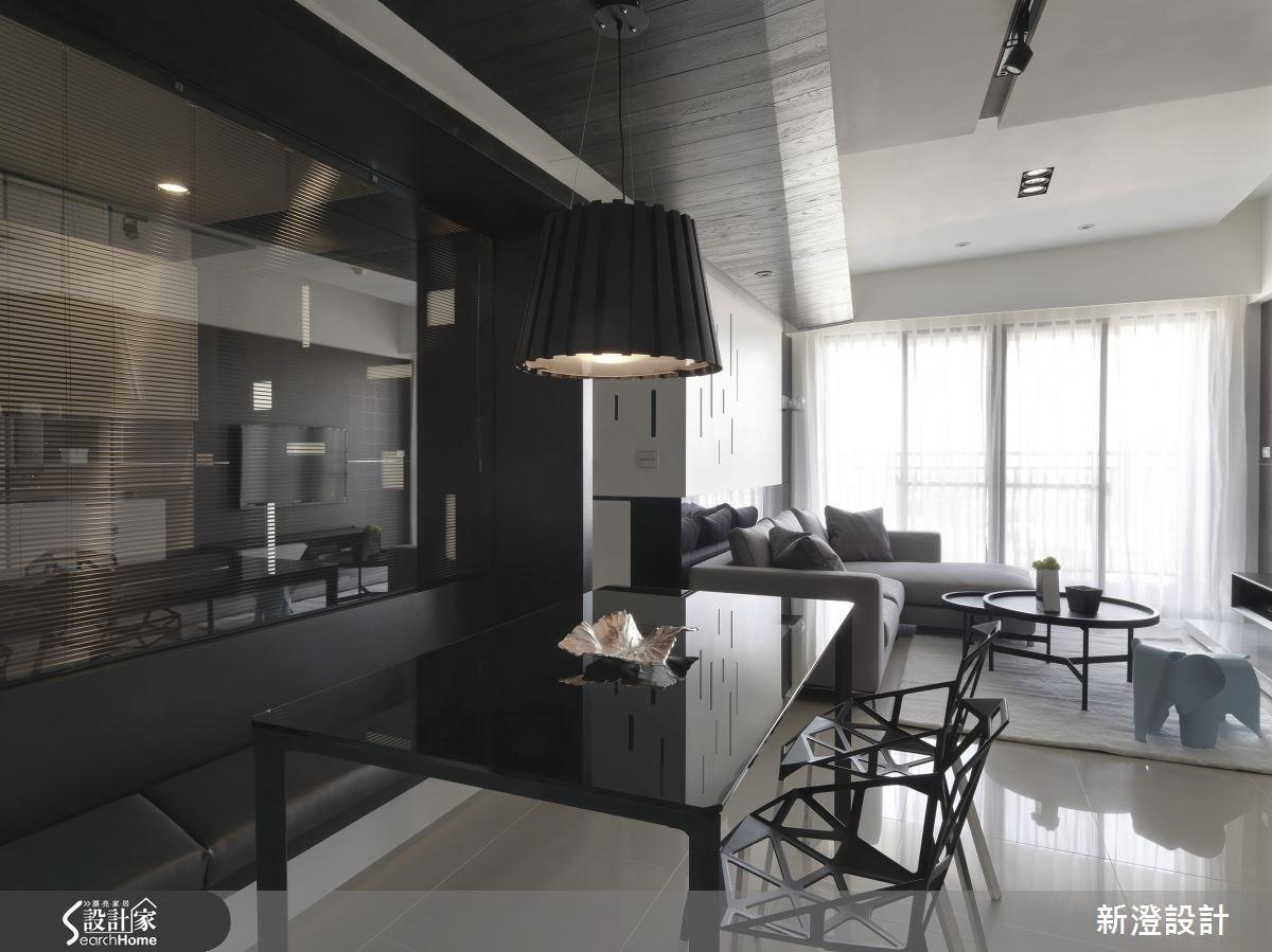 34坪預售屋_現代風客廳餐廳案例圖片_新澄設計_新澄_13之2