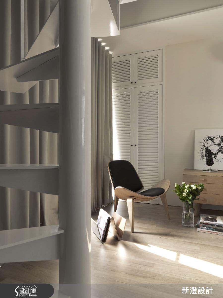 15坪新成屋(5年以下)_北歐風樓梯案例圖片_新澄設計_新澄_12之2