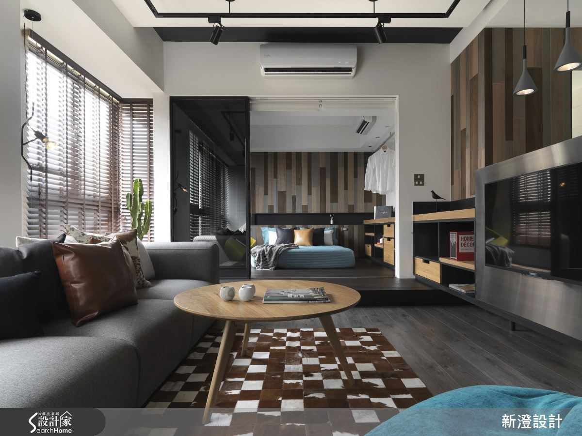 28坪新成屋(5年以下)_現代風客廳臥室案例圖片_新澄設計_新澄_20之3