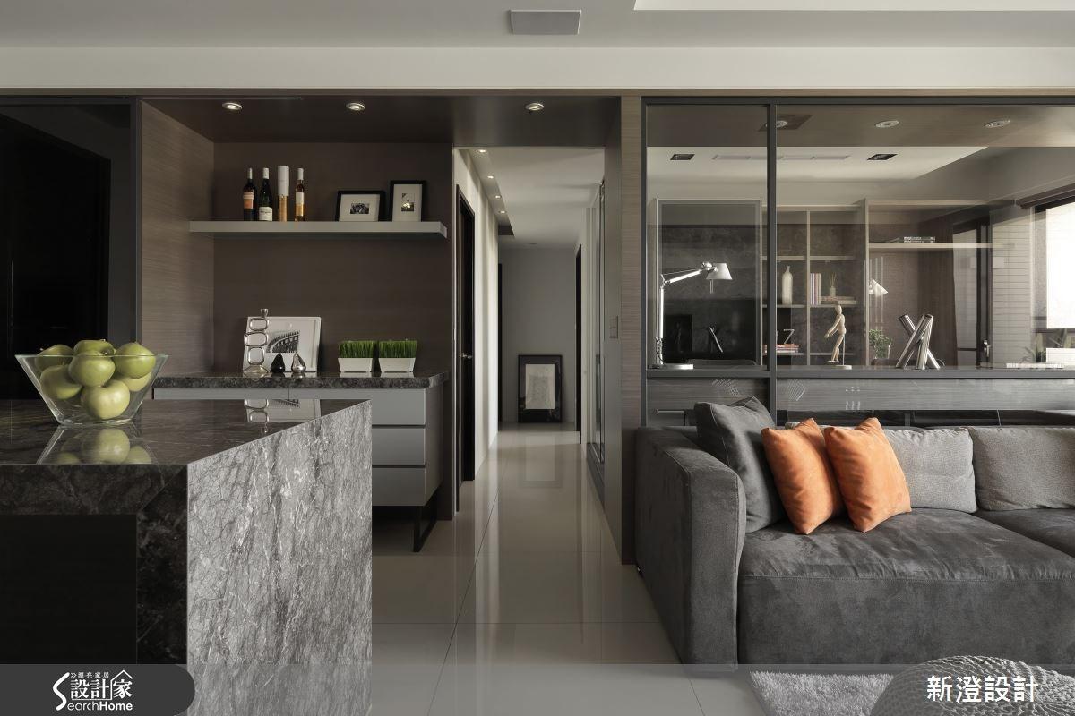 42坪預售屋_現代風客廳吧檯走廊案例圖片_新澄設計_新澄_09之4