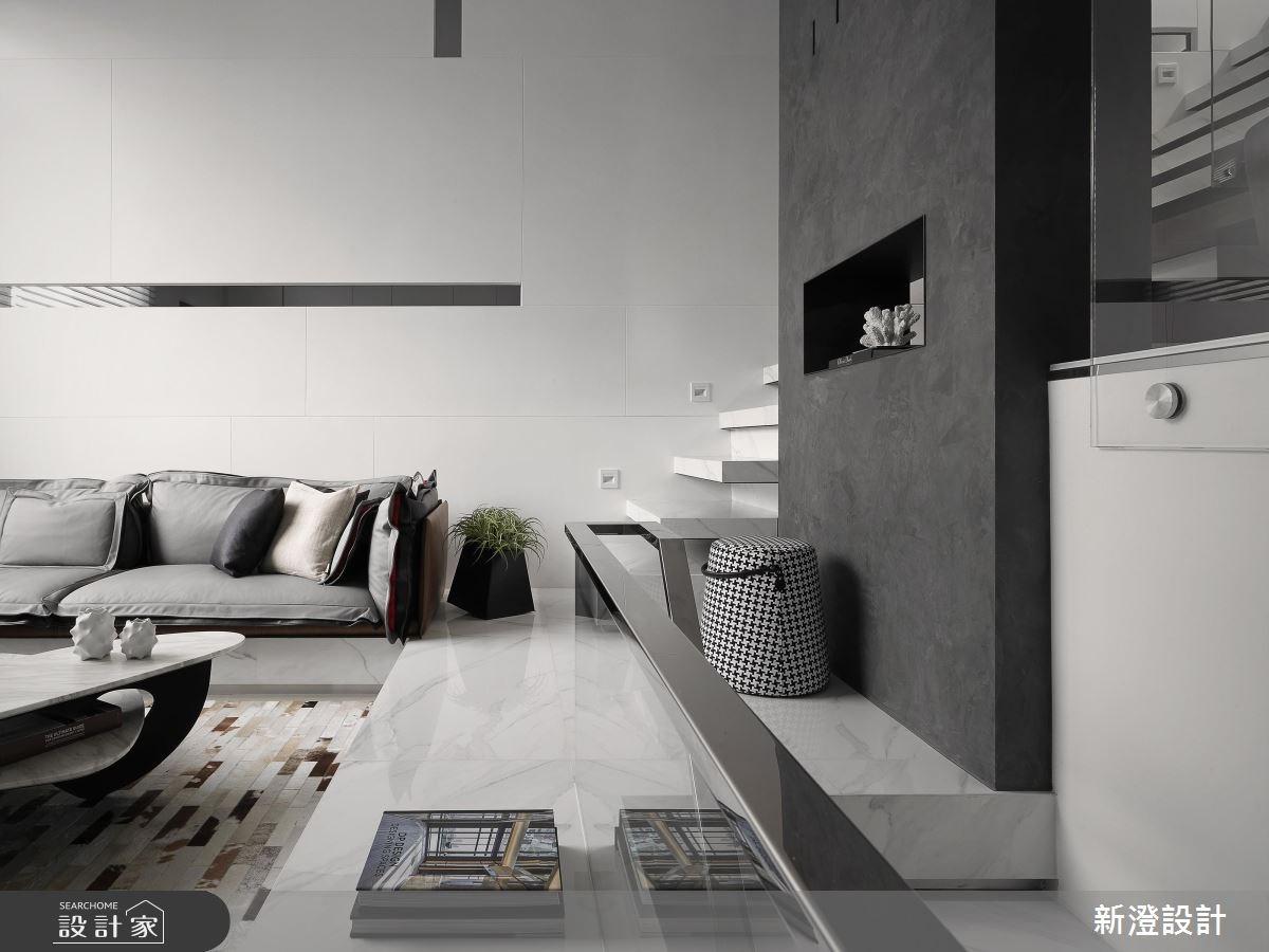 75坪新成屋(5年以下)_現代風客廳案例圖片_新澄設計_新澄_30之2