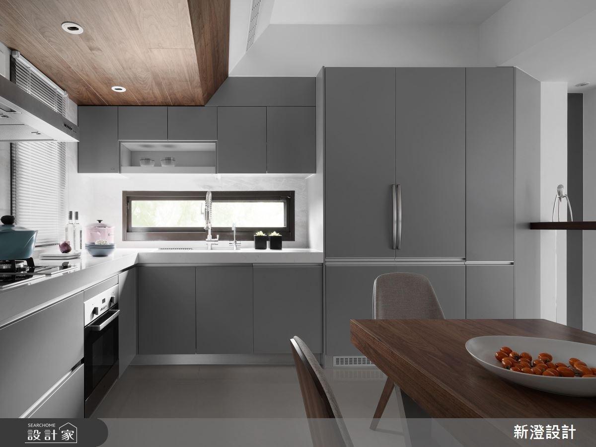 75坪新成屋(5年以下)_現代風餐廳廚房案例圖片_新澄設計_新澄_30之4