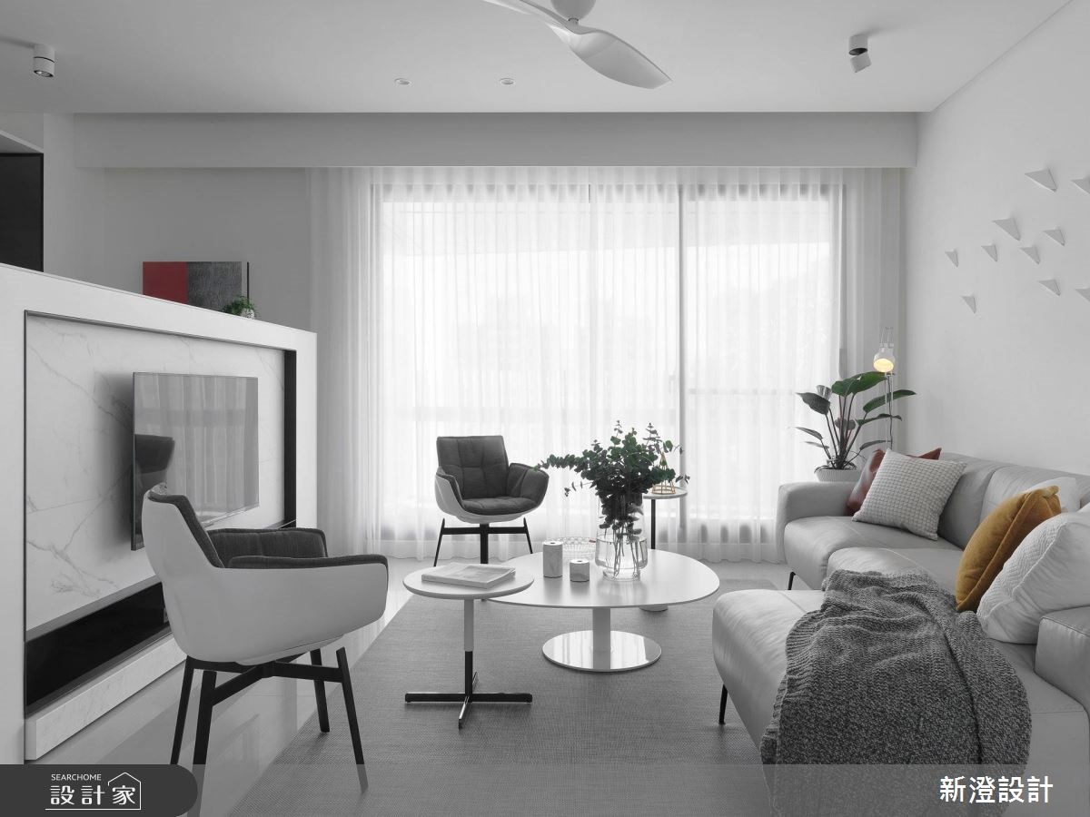 47坪新成屋(5年以下)_北歐風客廳案例圖片_新澄設計_新澄_35之3