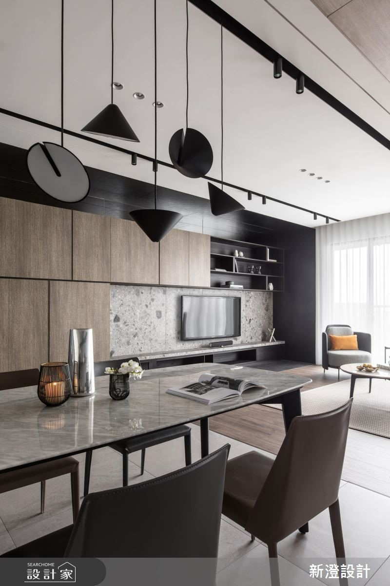 42坪新成屋(5年以下)_現代風餐廳案例圖片_新澄設計_新澄_45之3