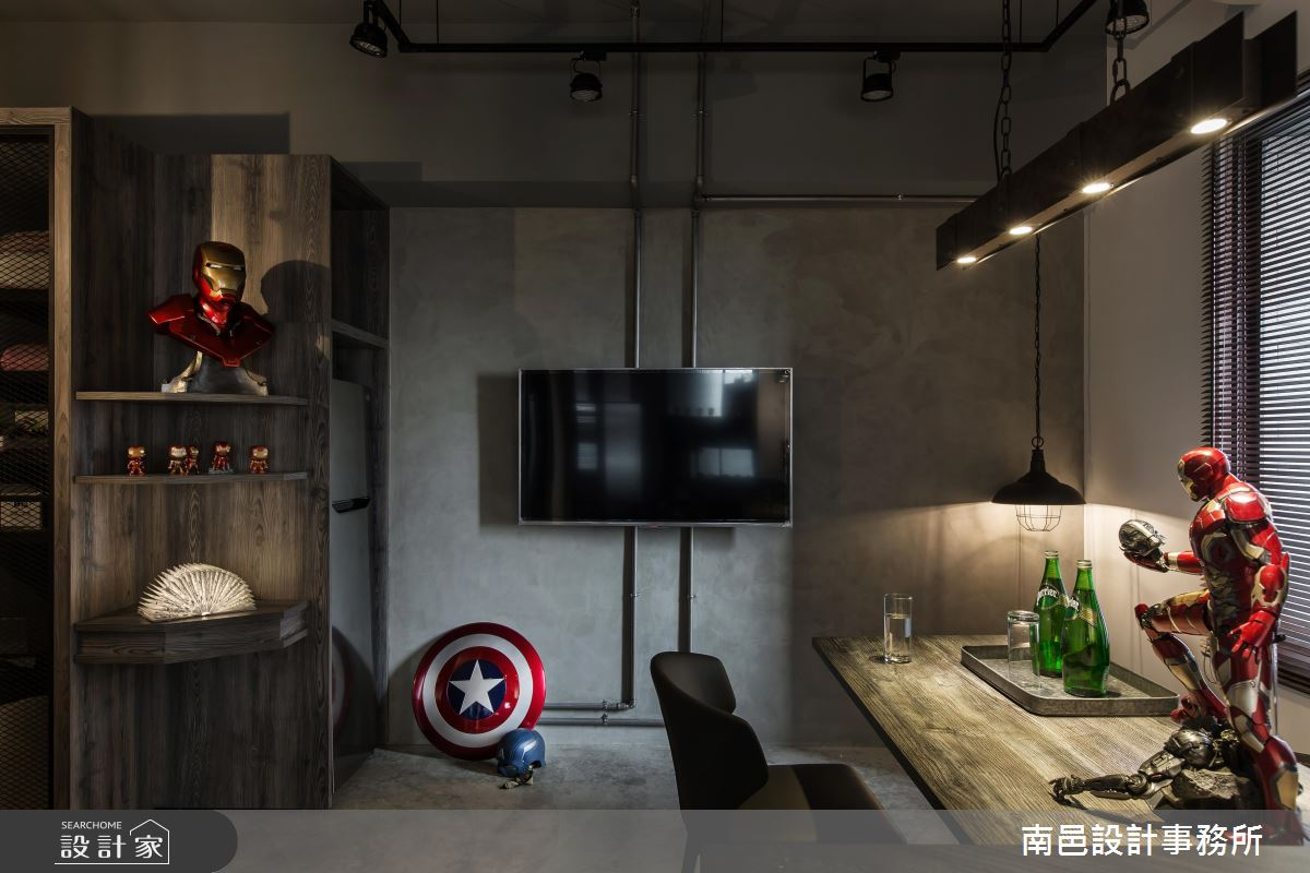 和 Marvel 英雄一起生活!宛如電影的 17 坪工業窩