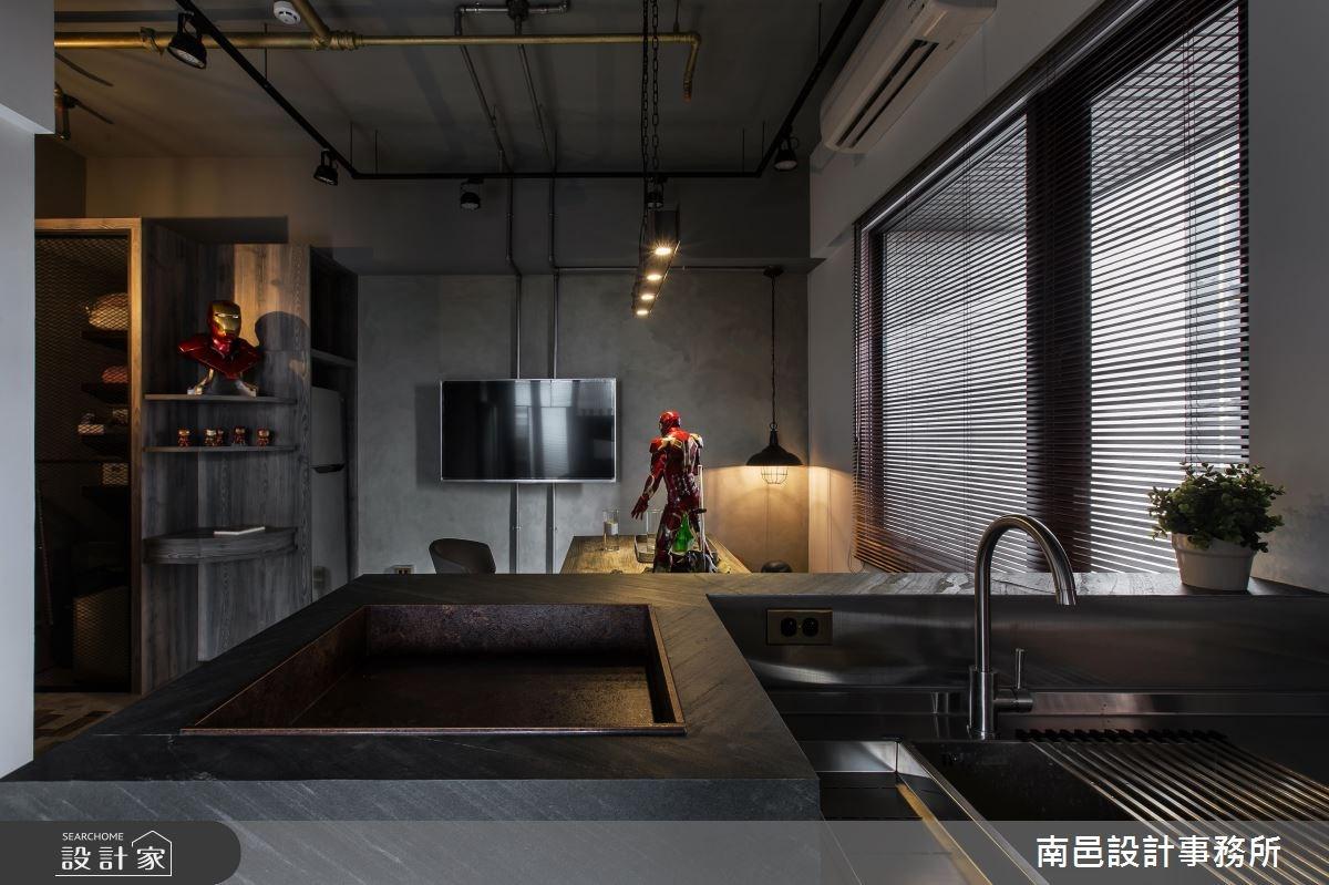 17坪新成屋(5年以下)_工業風廚房案例圖片_南邑設計事務所_南邑_20之10