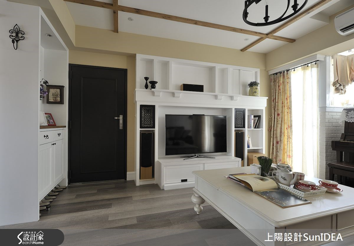 35坪老屋(16~30年)_鄉村風玄關客廳案例圖片_上陽室內設計_上陽_13之1