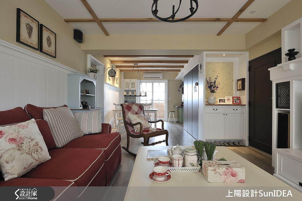 35坪老屋(16~30年)_鄉村風玄關客廳案例圖片_上陽室內設計_上陽_13之2