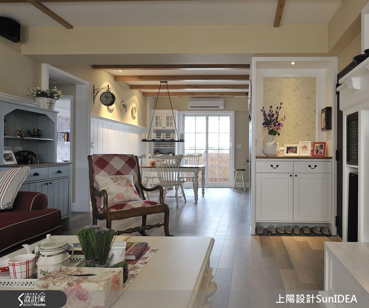 35坪老屋(16~30年)_鄉村風玄關客廳餐廳案例圖片_上陽室內設計_上陽_13之3