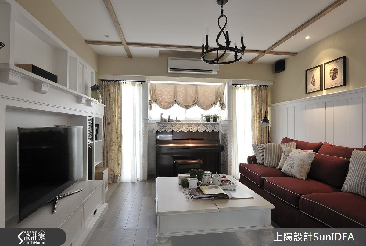 35坪老屋(16~30年)_鄉村風客廳案例圖片_上陽室內設計_上陽_13之4