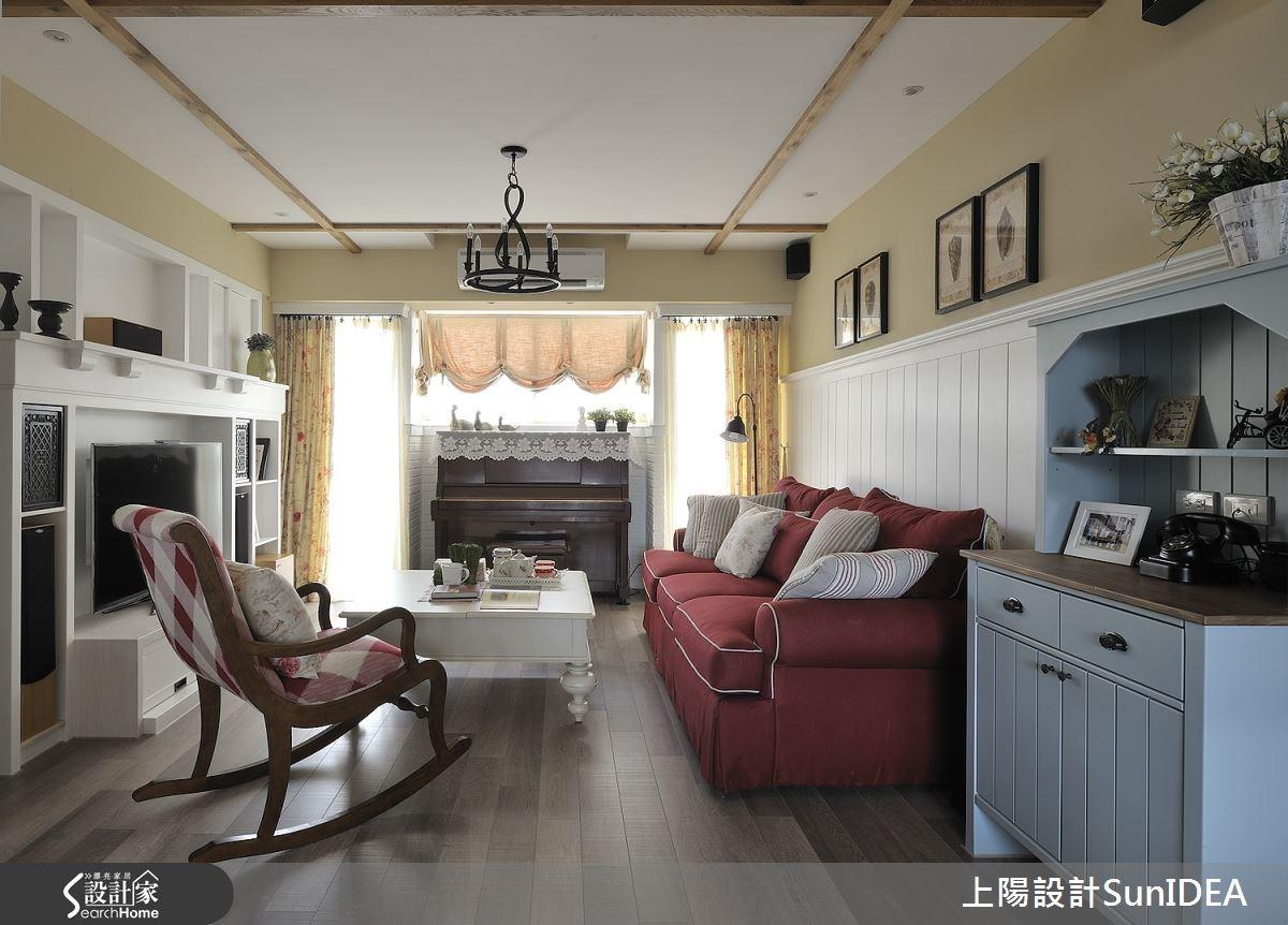 35坪老屋(16~30年)_鄉村風客廳案例圖片_上陽室內設計_上陽_13之5