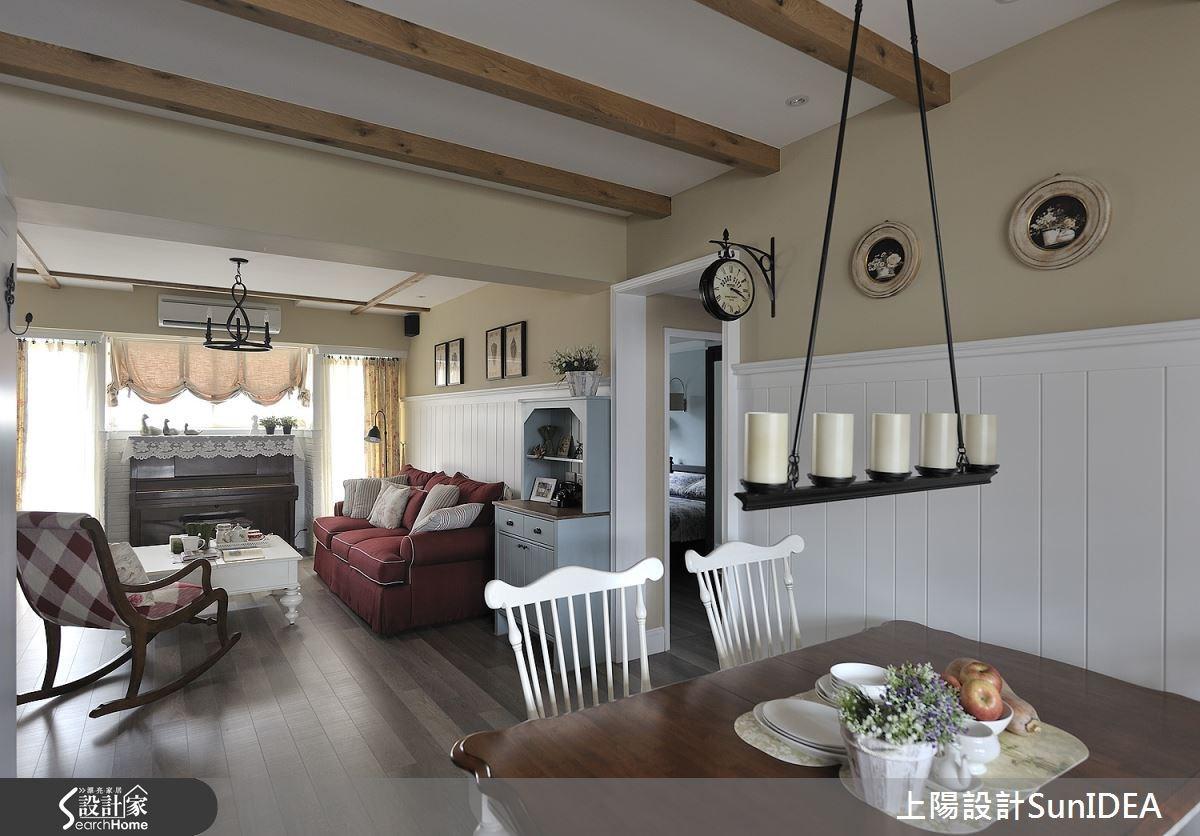 35坪老屋(16~30年)_鄉村風客廳餐廳案例圖片_上陽室內設計_上陽_13之8