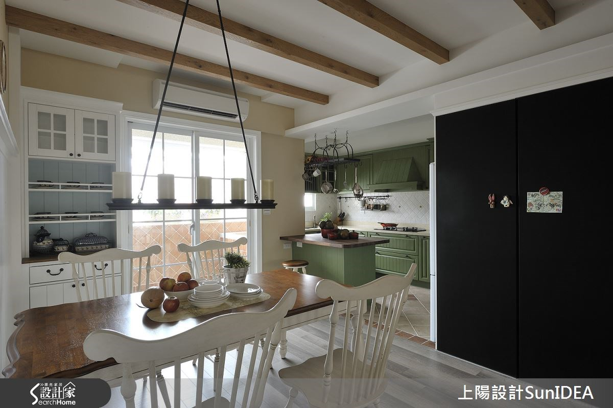 35坪老屋(16~30年)_鄉村風餐廳廚房吧檯案例圖片_上陽室內設計_上陽_13之10