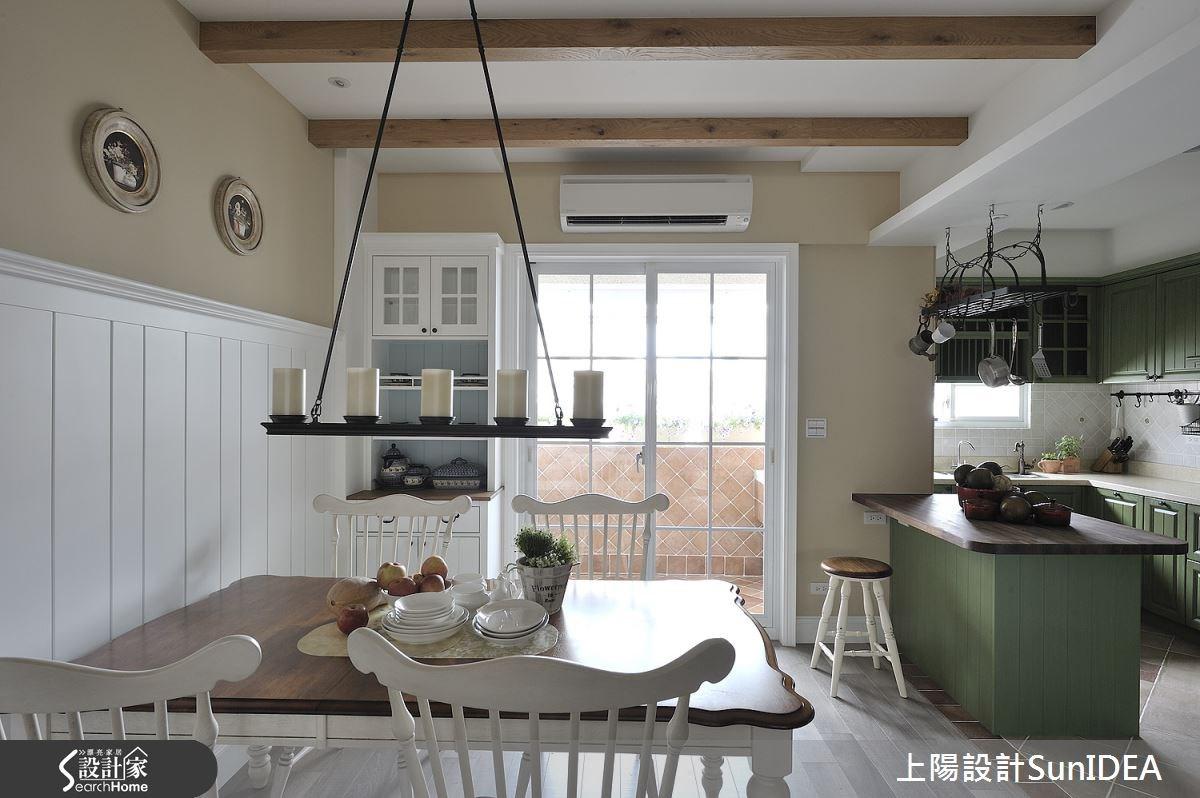 35坪老屋(16~30年)_鄉村風餐廳廚房吧檯案例圖片_上陽室內設計_上陽_13之12